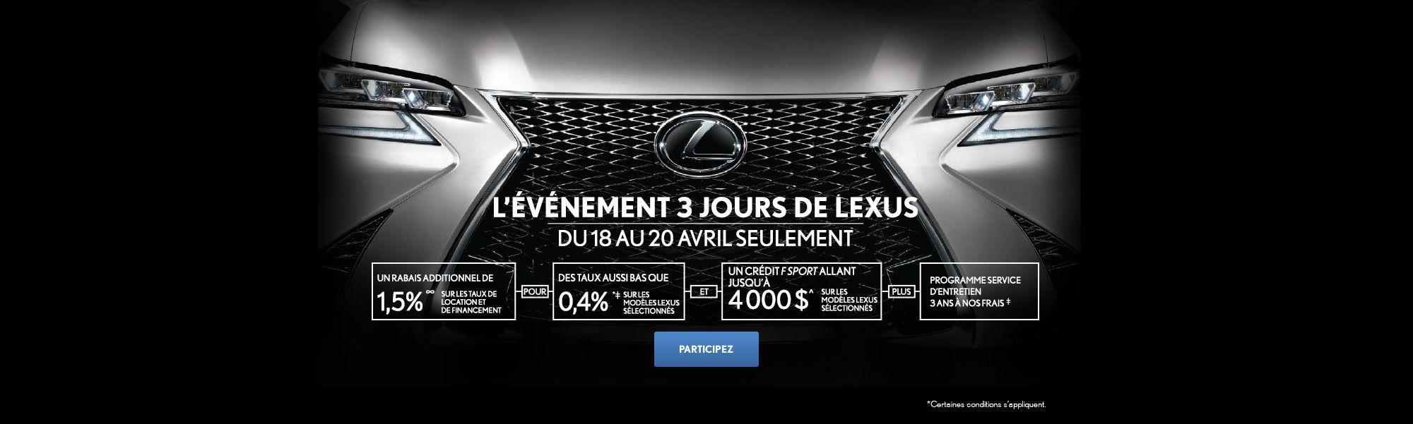 L'événement 3 jours de Lexus