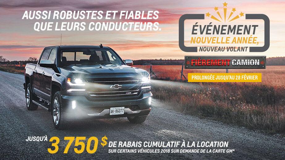 Promotion Chevrolet Février 2018