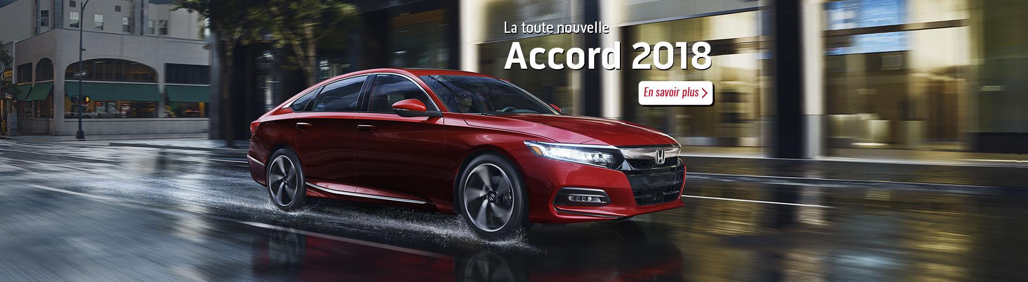 La toute nouvelle Honda Accord 2018