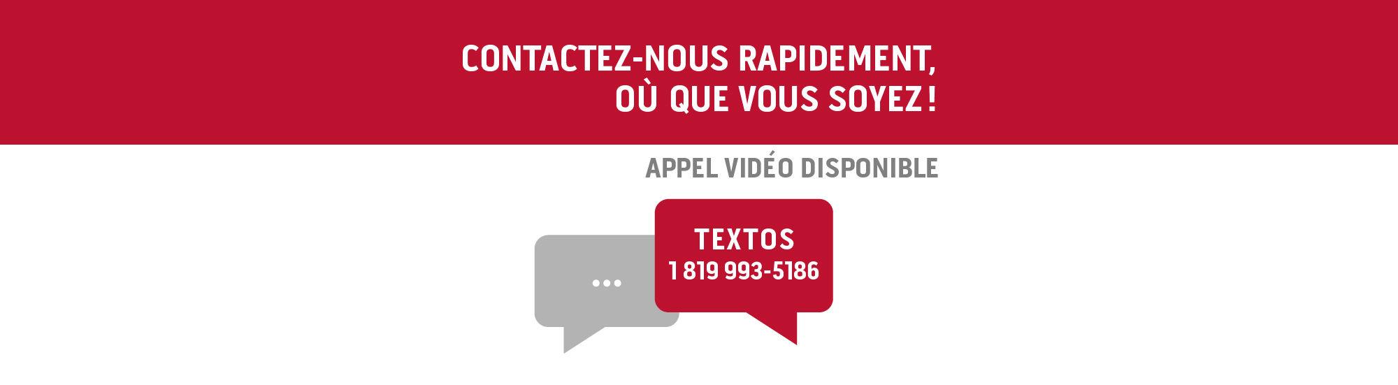 Contactez-nous par texto