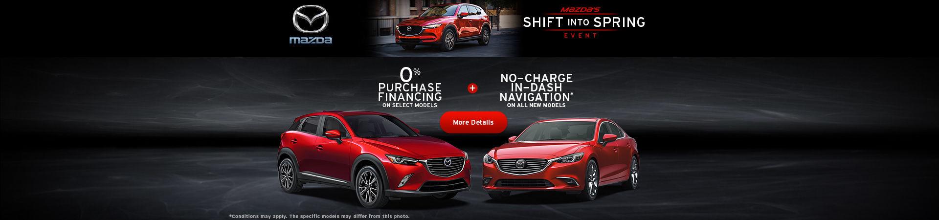 Mazda's Shift into Spring Event web