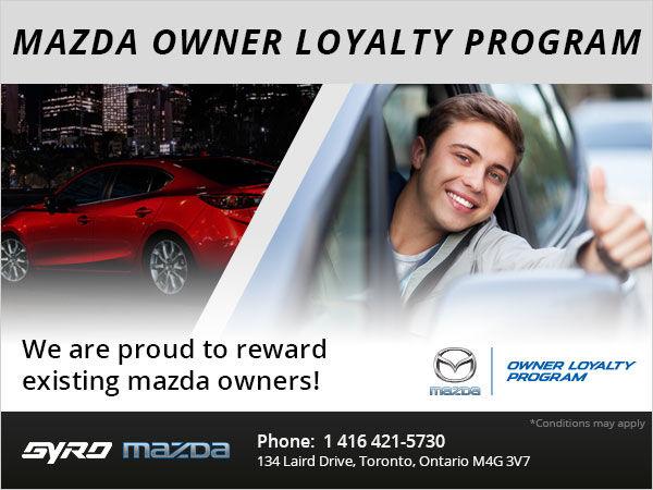 Mazda Owner Loyalty Program Gyro Mazda Special Offer In Toronto - Mazda loyalty program