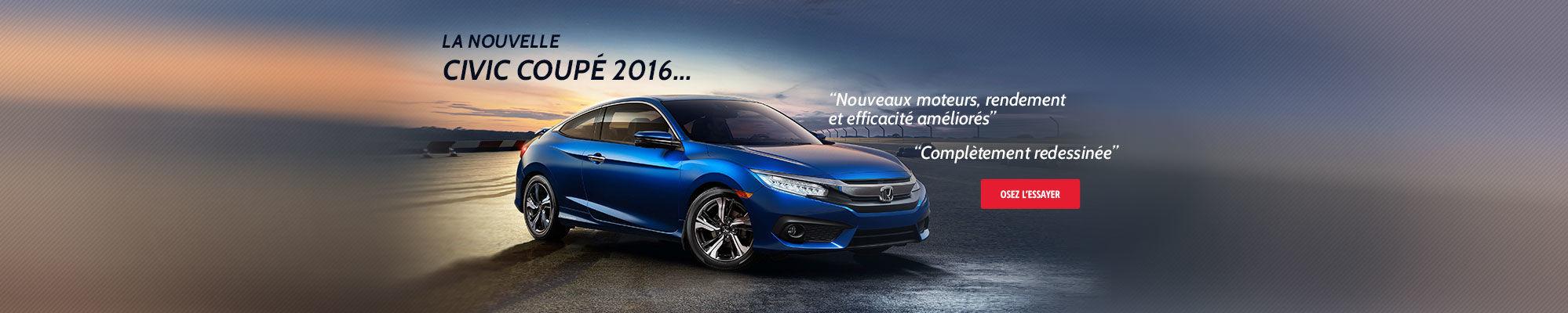 La nouvelle Civic Coupé 2016