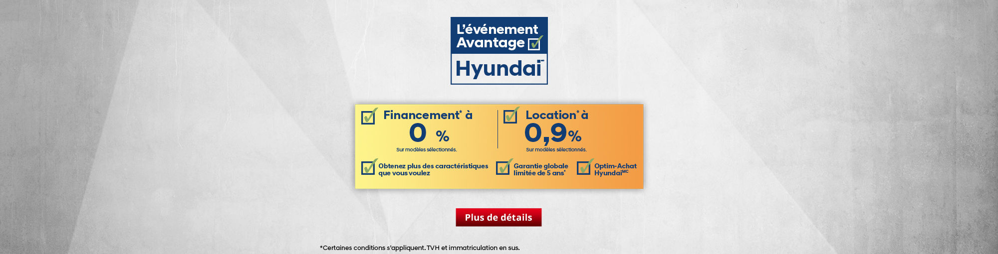 L'événement Avantage Hyundai