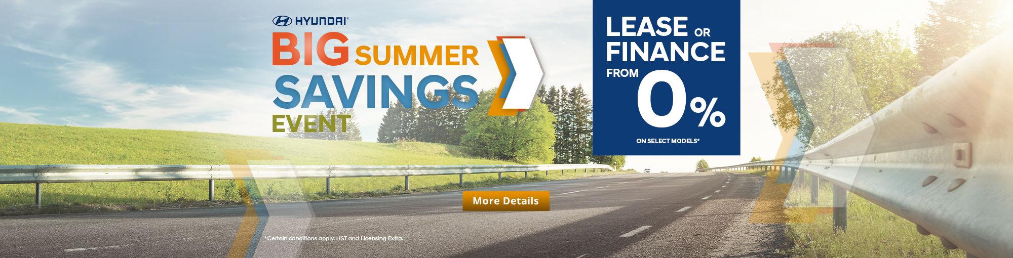 Big Summer Savings Event