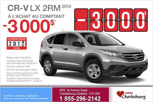 Rabais de 3000$ sur le Honda Cr-V LX 2RM 2014