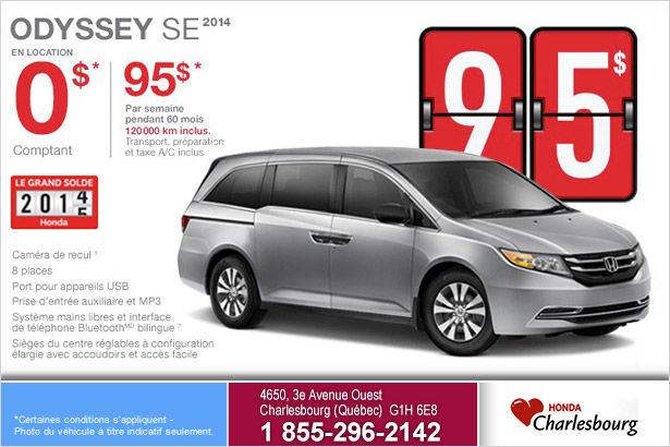 Louez le Honda Odyssey Se 2014 à compter de 95$ par semaine