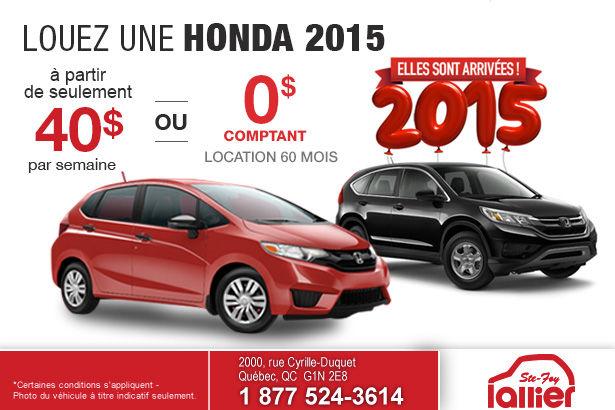 Les nouvelles Honda 2015 sont enfin arrivées
