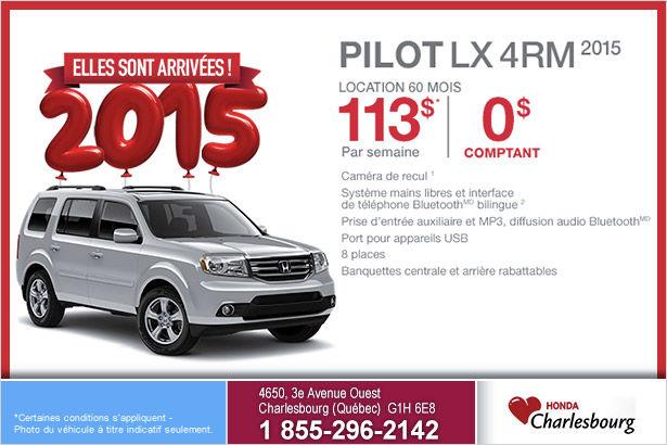 Honda Pilot LX 4RM 2015 en location à 113$ par semaine