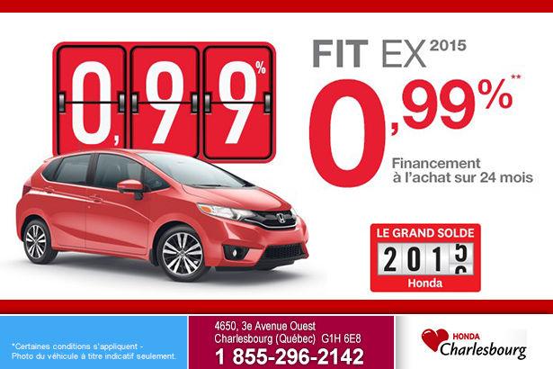 Obtenez la nouvelle Honda Fit EX 2015 à un taux de 0,99%