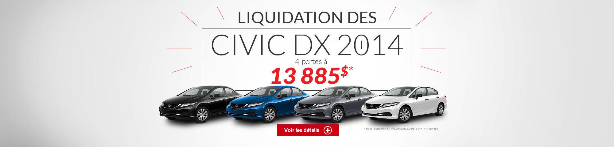 Liquidation civic 2014