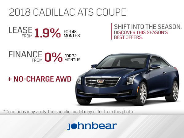 Get The 2018 Cadillac Ats Coupe Today John Bear Hamilton