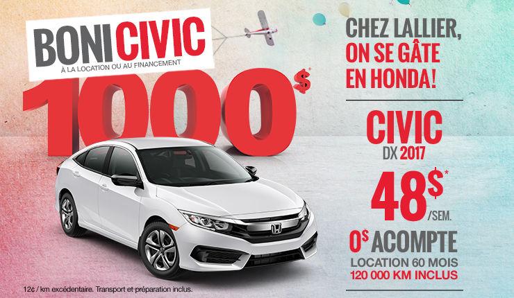 On se gâte en Honda - Civic
