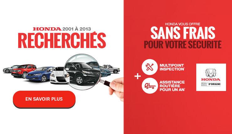 Honda 2001 à 2013 recherchés