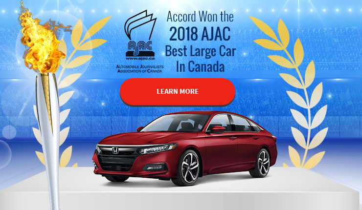 Accord Won the 2018 AJAC  Best Large Car  In Canada