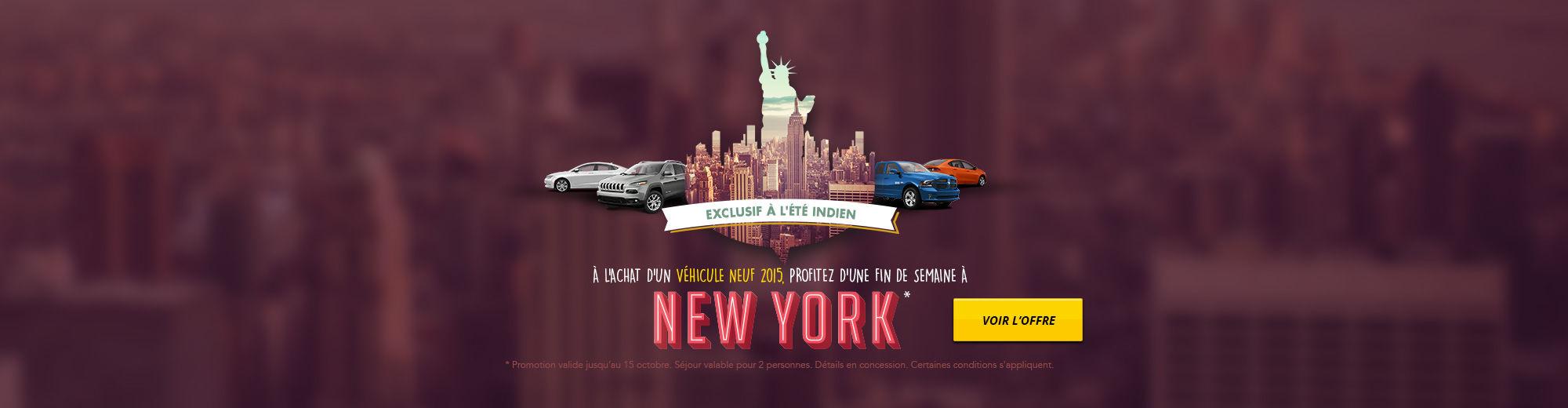 Profitez d'une fin de semaine à New York