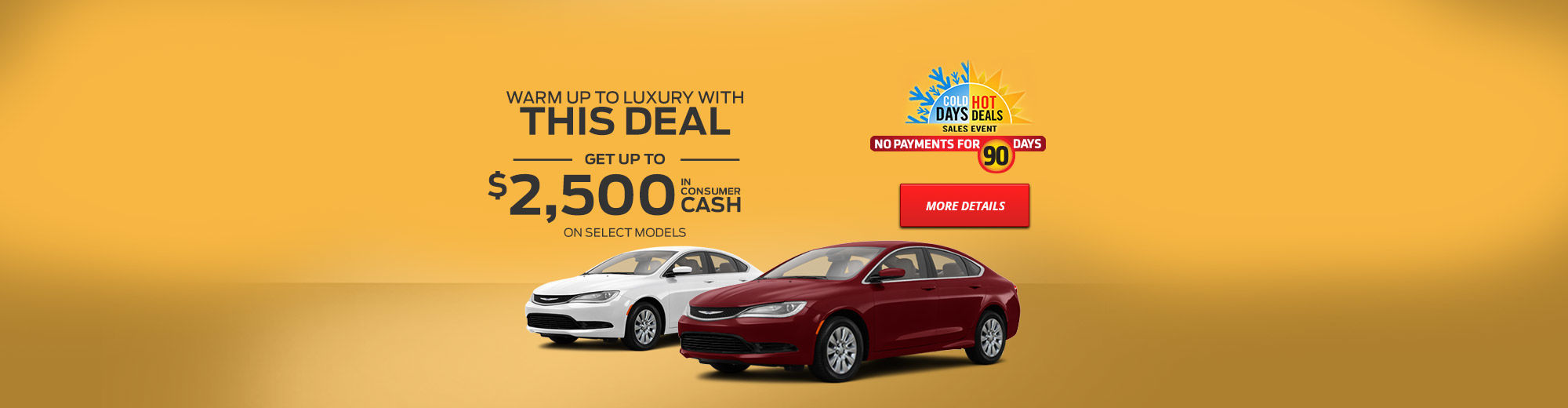 Cold Days, Hot Deals, Sales Event - Chrysler