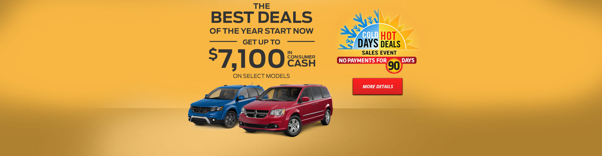 Cold Days, Hot Deals Sales Event