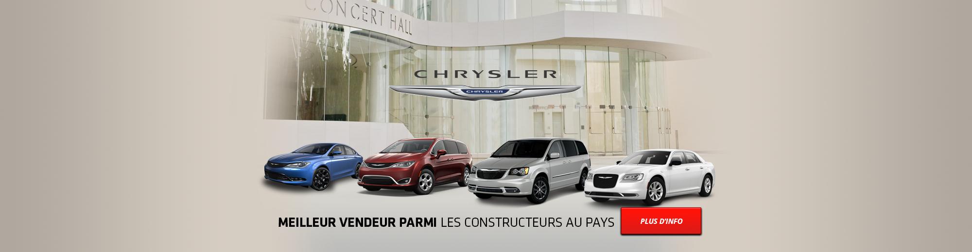 Chrysler | Meilleur vendeur parmi les constructeurs au pays