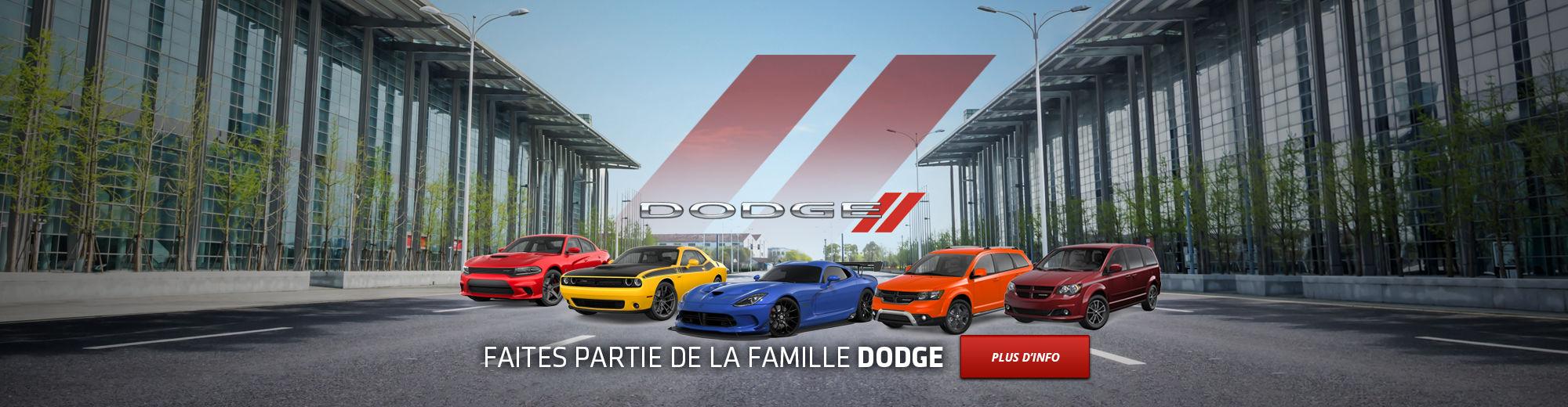 Faites partie de la famille DODGE