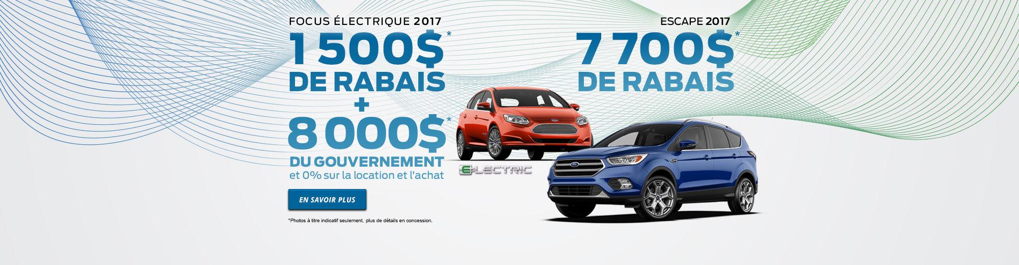 Focus électrique 2017 Escape 2017