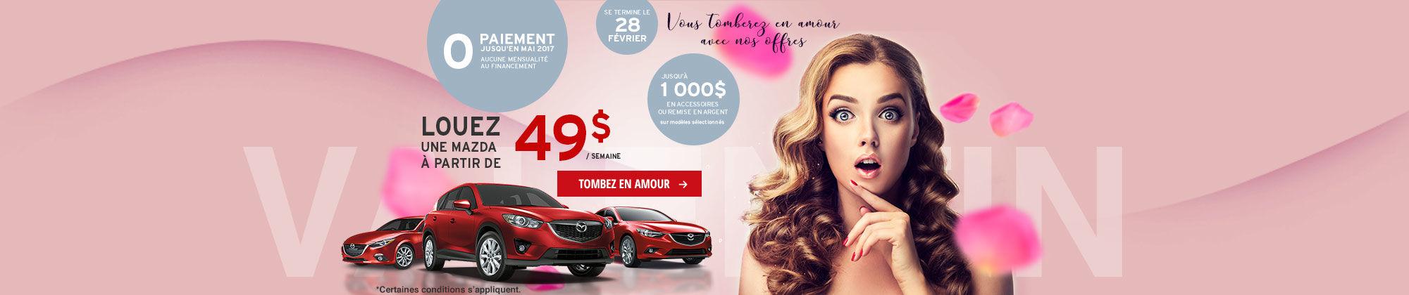 Vous tomberez en amour avec nos offres-Mazda