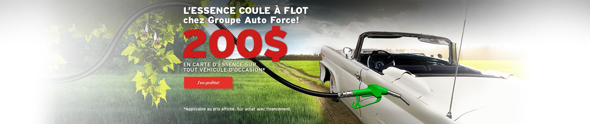 200$ d'essence à l'achat d'un véhicule d'occasion! -Toyota