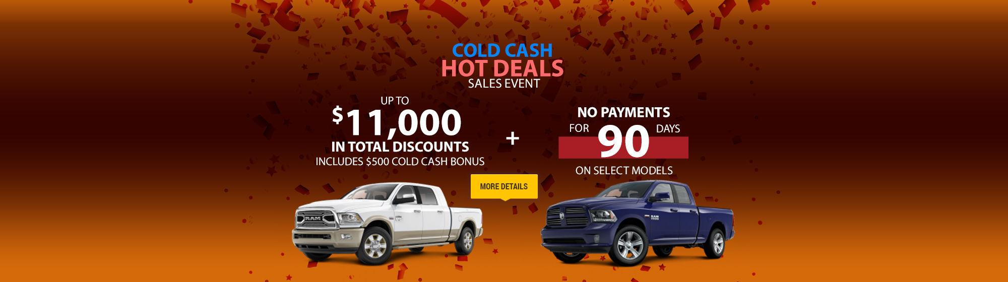 Cold Cash Hot Deals Sales Event
