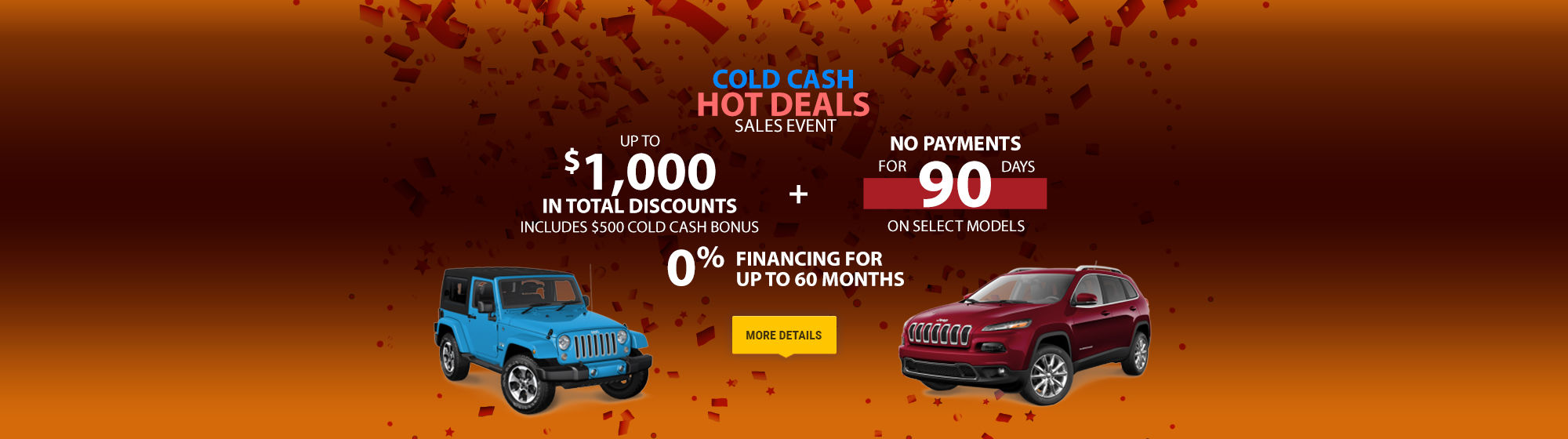 Cold Cash Hot Deals Sales Event - Jeep