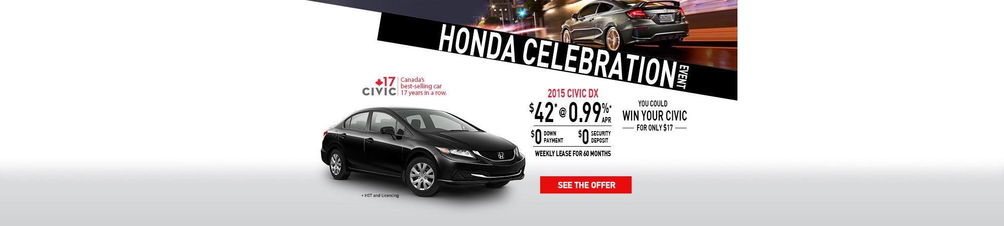 Honda Celebration - 2015 Honda CIVIC - February