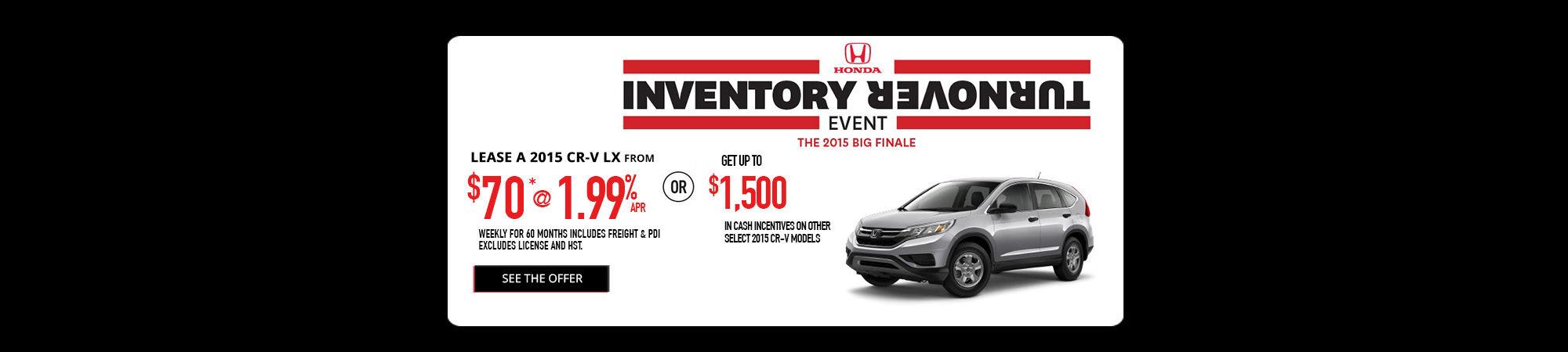 Inventory Turnover -  CR-V