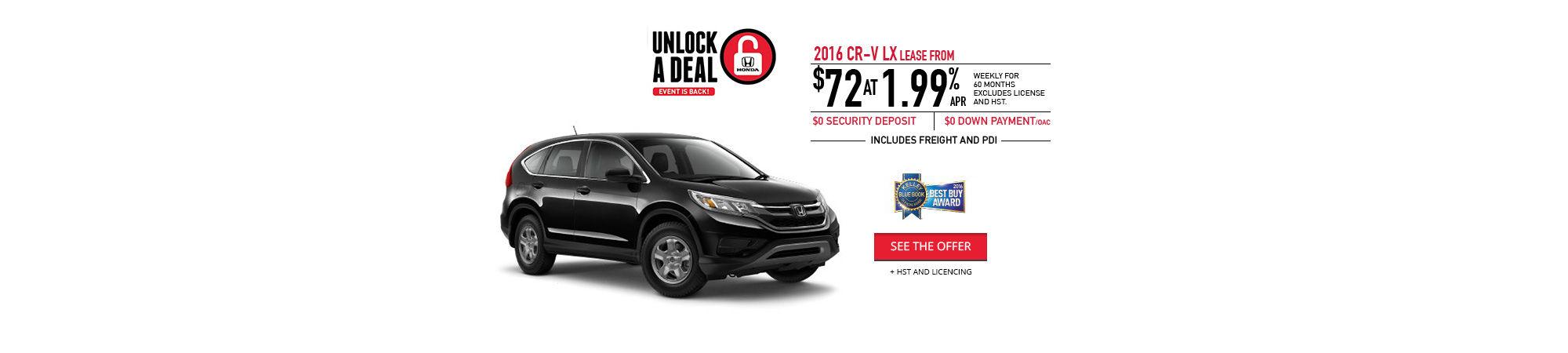Unlock a Deal - CR-V