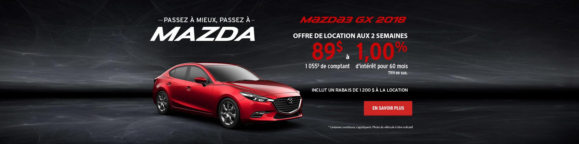 Passez à mieux, passez à Mazda - Mazda3