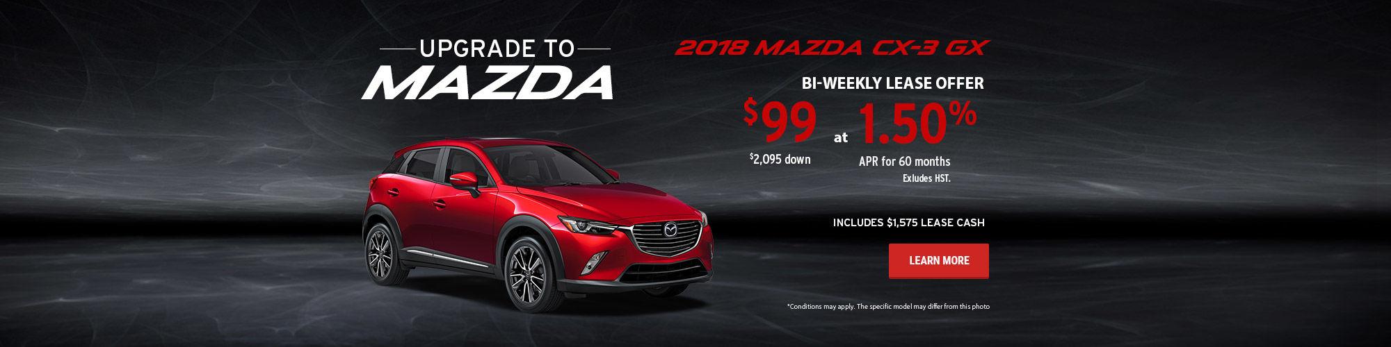 Upgrade to Mazda - CX-3