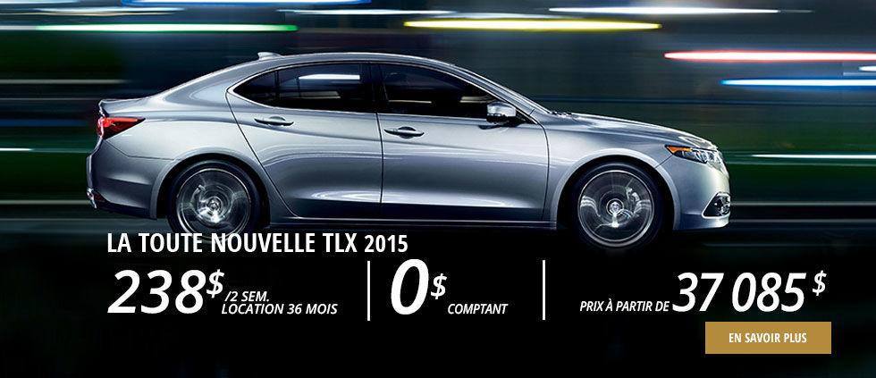Acura TLX 2015 en location à partir de 238$ aux 2 semaines