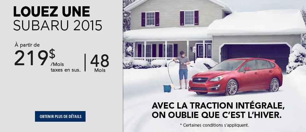 Louez une Subaru 2015 à partir de 219$ - Février