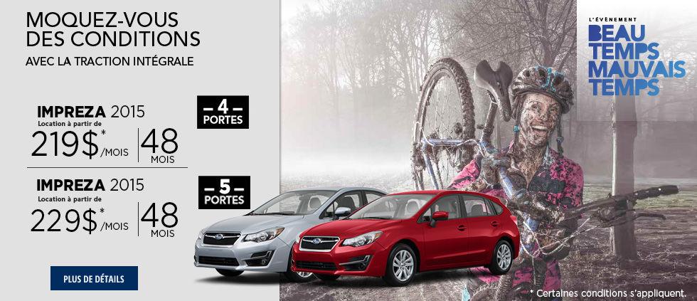 L'événement beau temps mauvais temps de Subaru Mai-Impreza