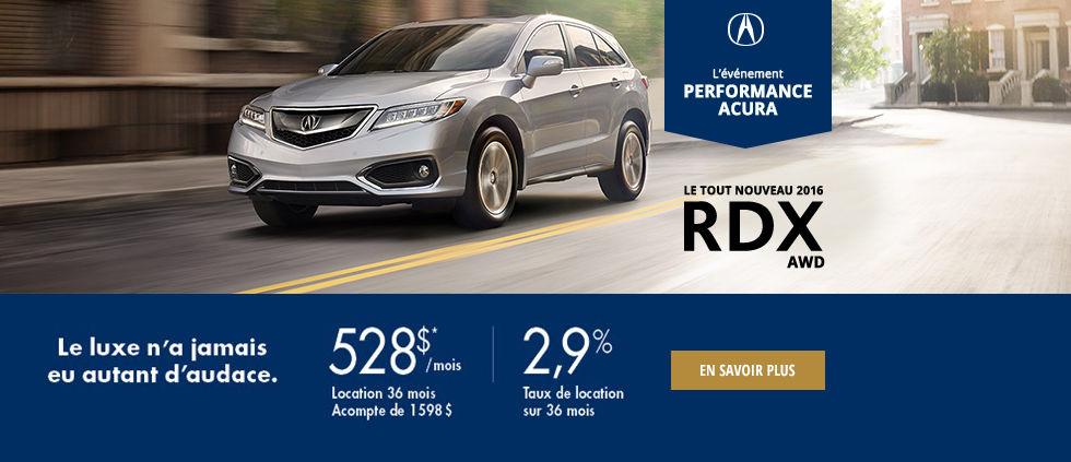l'événement performance Acura - RDX