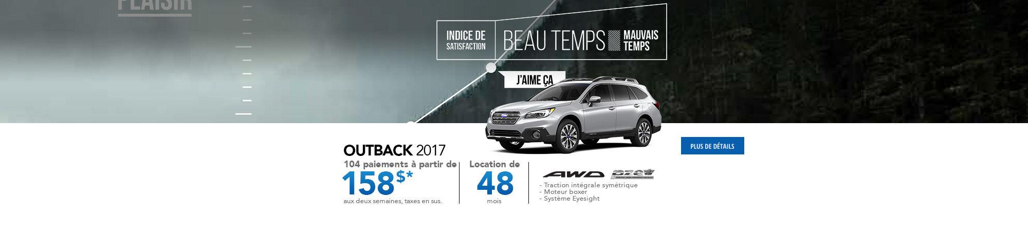 Beau Temps Outback 2017
