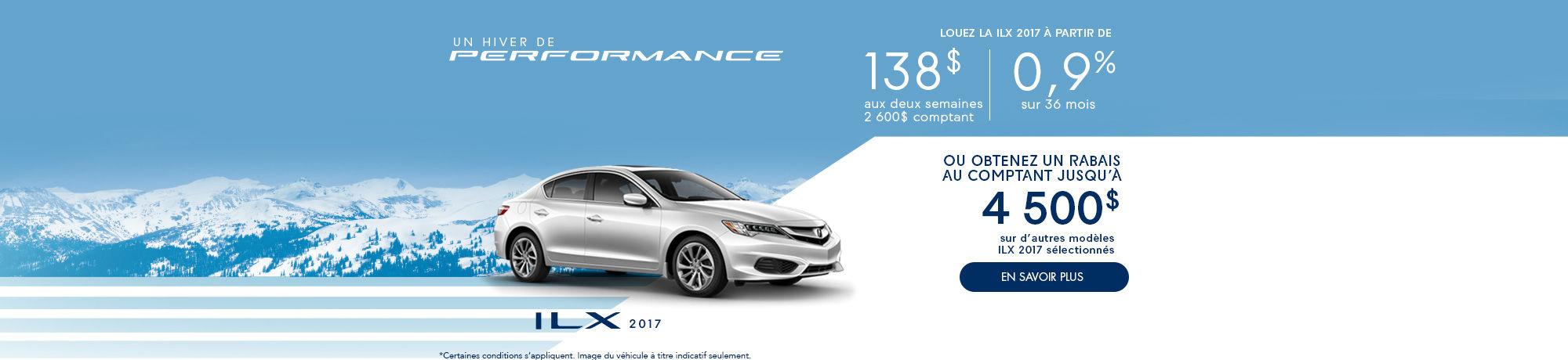 Un hiver de Performance avec Acura! ILX
