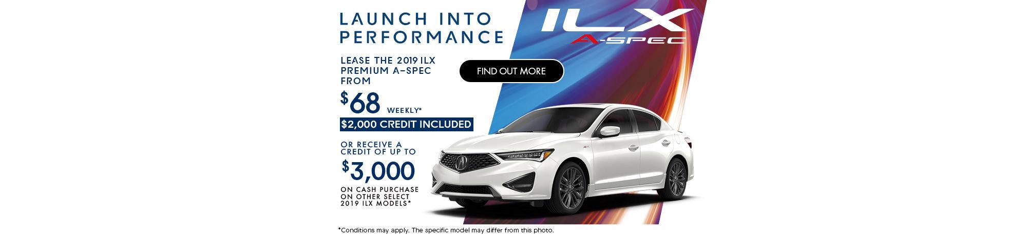 The new 2019 Acura ILX