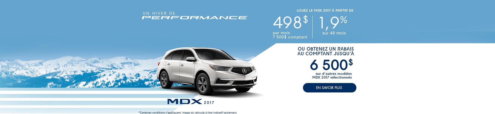 un hiver de Performance avec Acura - MDX