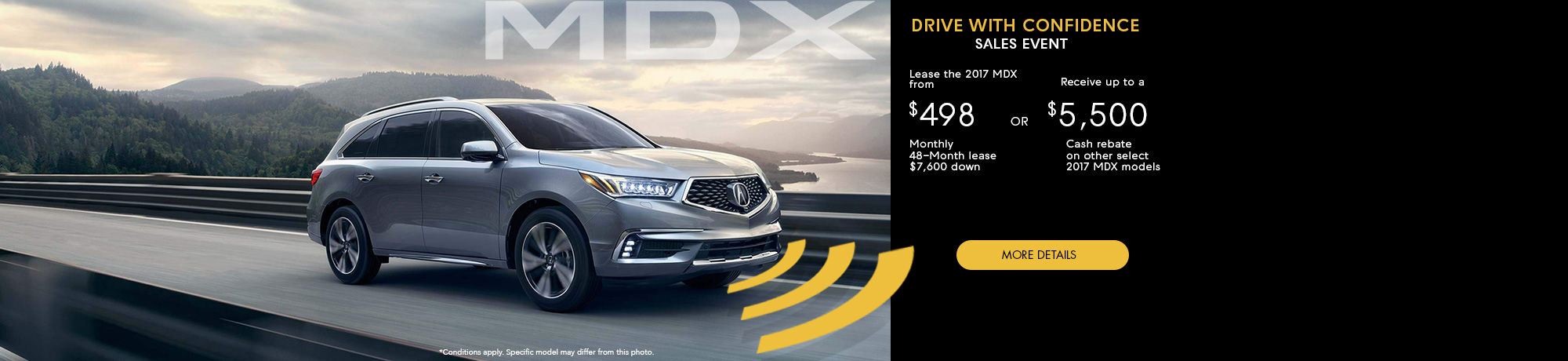 Drive With Confidence Sales Event - MDX - October