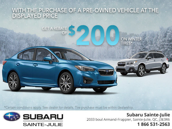 Save $200 on Winter Tires