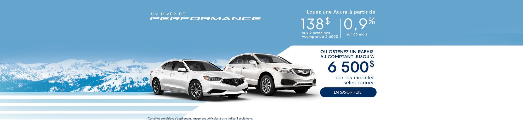 un hiver de Performance avec Acura