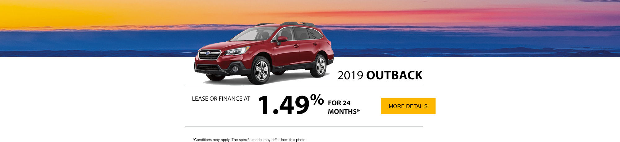 GET THE 2019 OUTBACK TODAY!