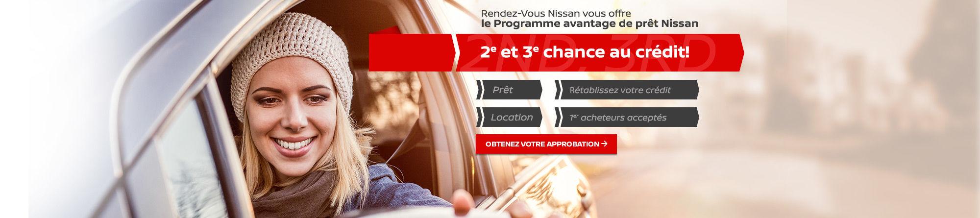 Le Programme avantage de prêt Nissan