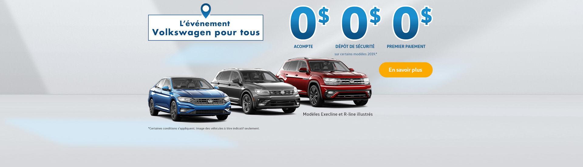 L'événement Volkswagen pour tous!