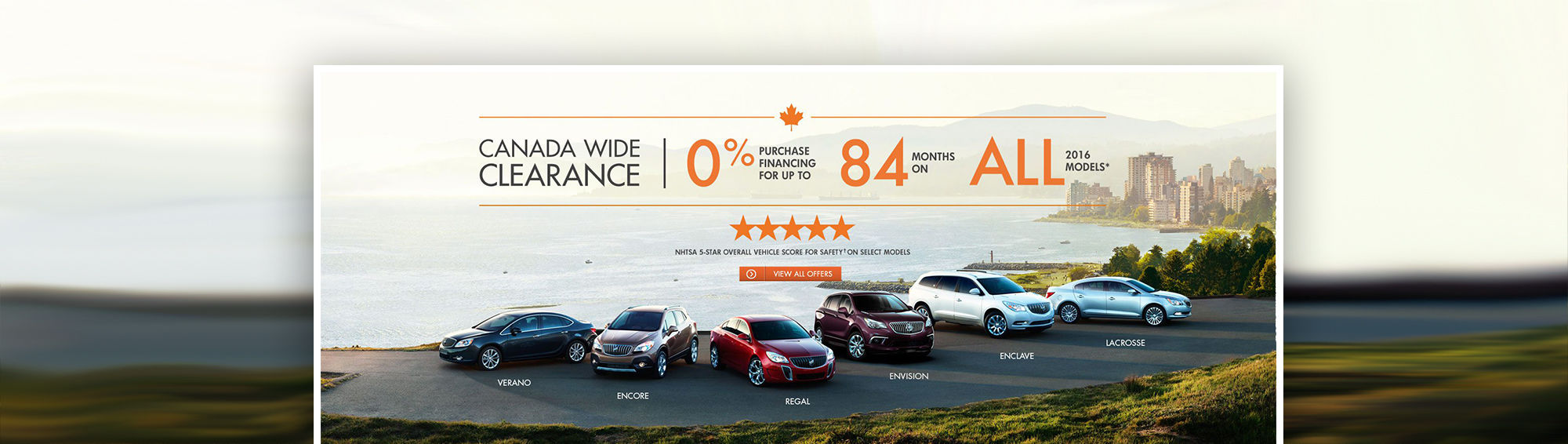 Buick 2016 Canada Wide Clearance