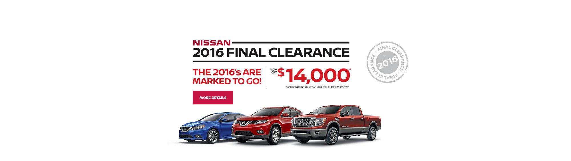 Nissan Final Clearance